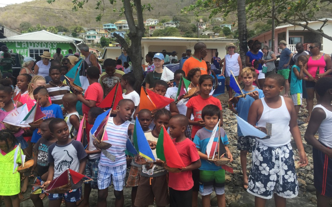Easter egg hunt + Coconut Boat Races + opti sailing = Easter in Bequia